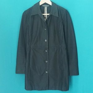 BANANA REPUBLIC Black Cotton Trench Coat Jacket. S